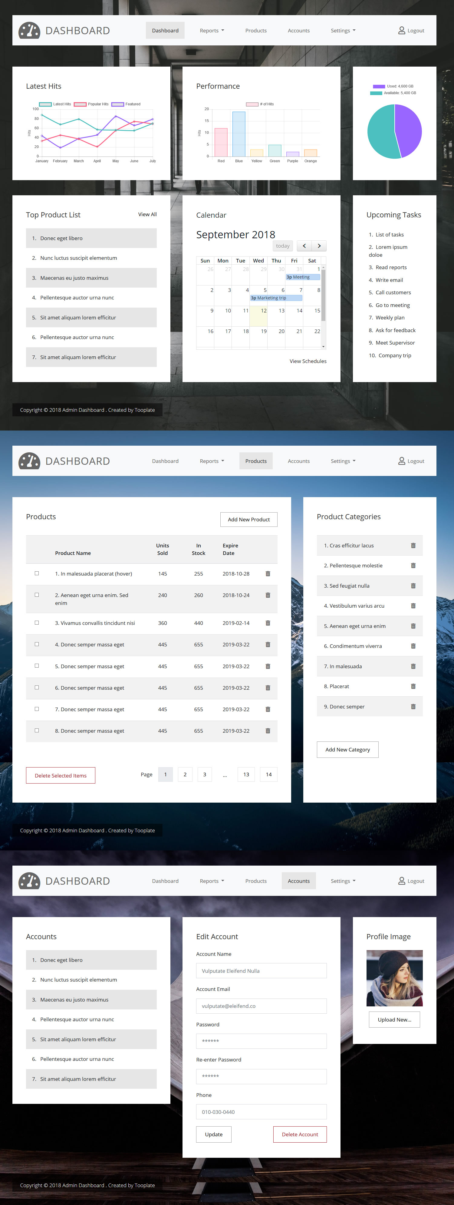 Admin HTML Free responsive HTML5 Bootstrap Dashboard