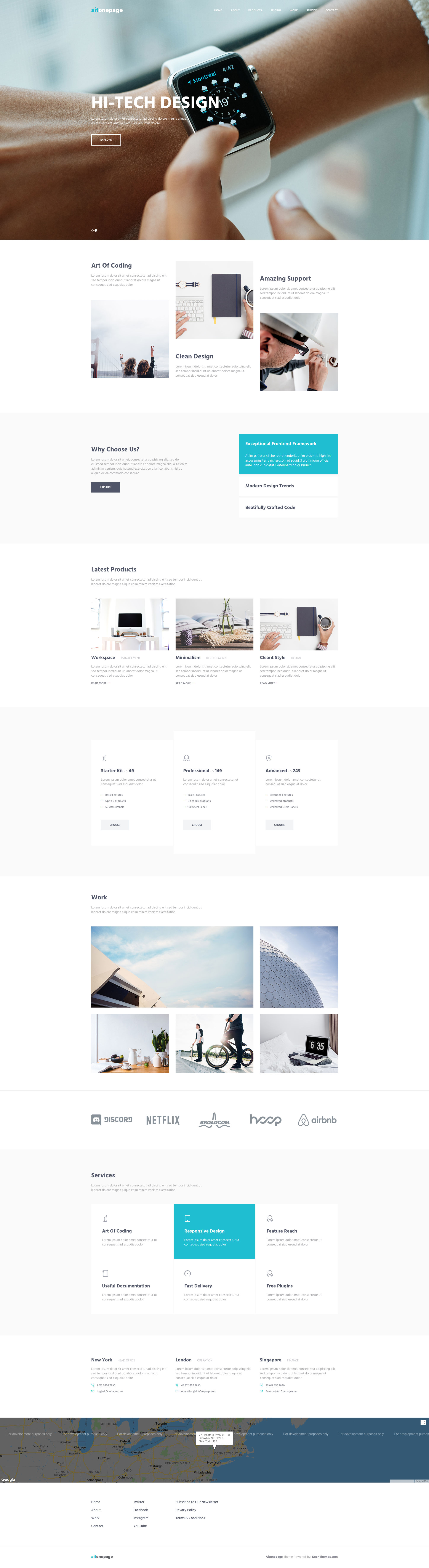 Aitonepage is a free responsive HTML5 one page business website template using Bootstrap 3. This template has clean and elegant design with lots of whitespace and it's perfect for any kind of business websites. Aitonepage template is uses HTML5 and CSS3 web technologies, fully responsive and built with Bootstrap 3 Responsive CSS Grid System.