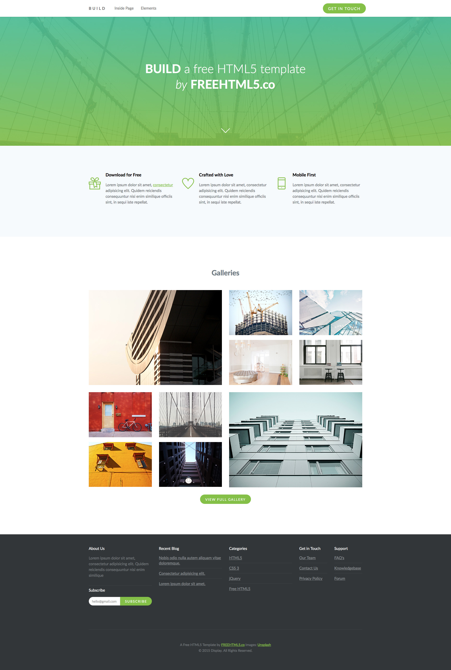Build free responsive html5 bootstrap business template build free html5 website template wajeb Gallery