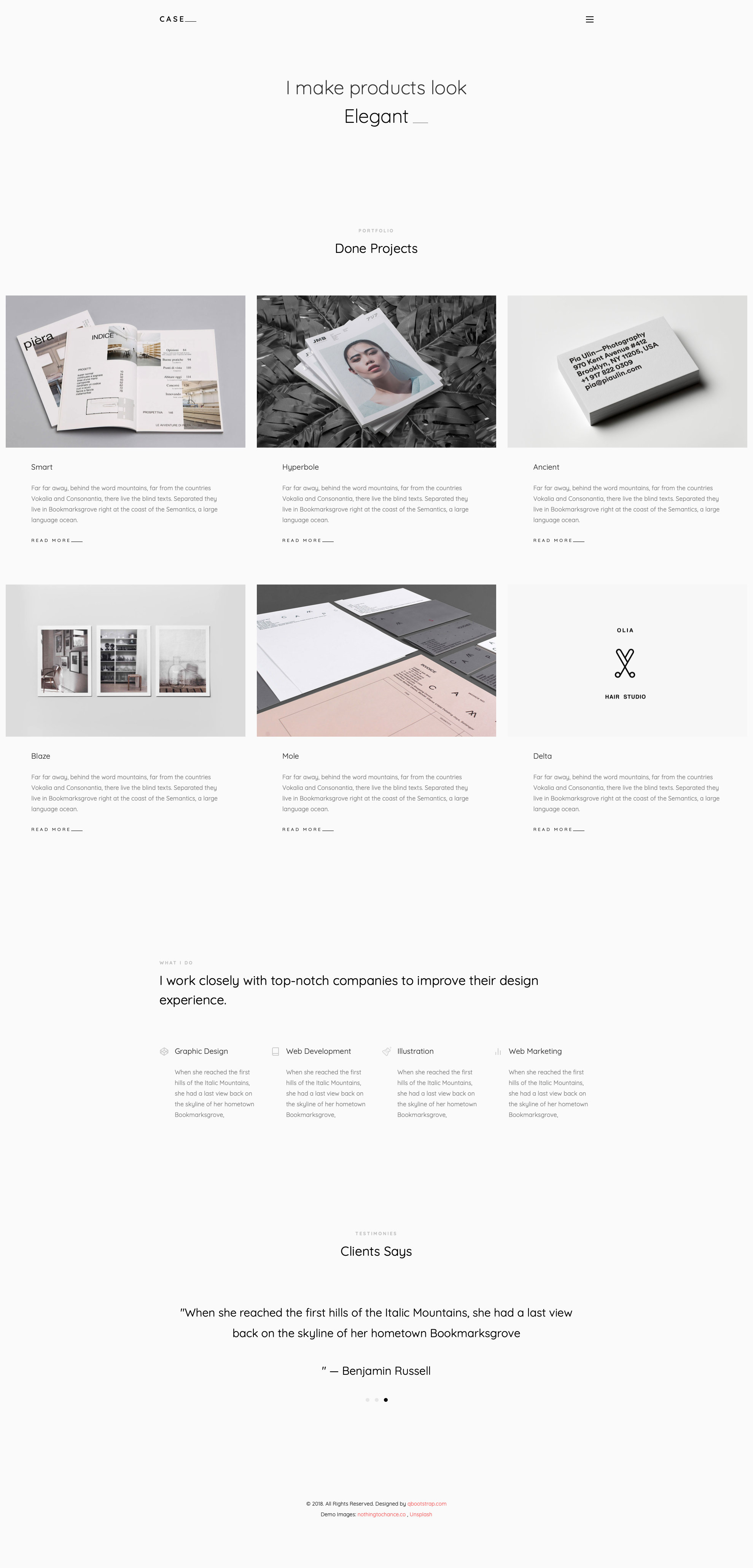 Case Free Responsive Html5 Bootstrap Portfolio Template Htmltemplates Co