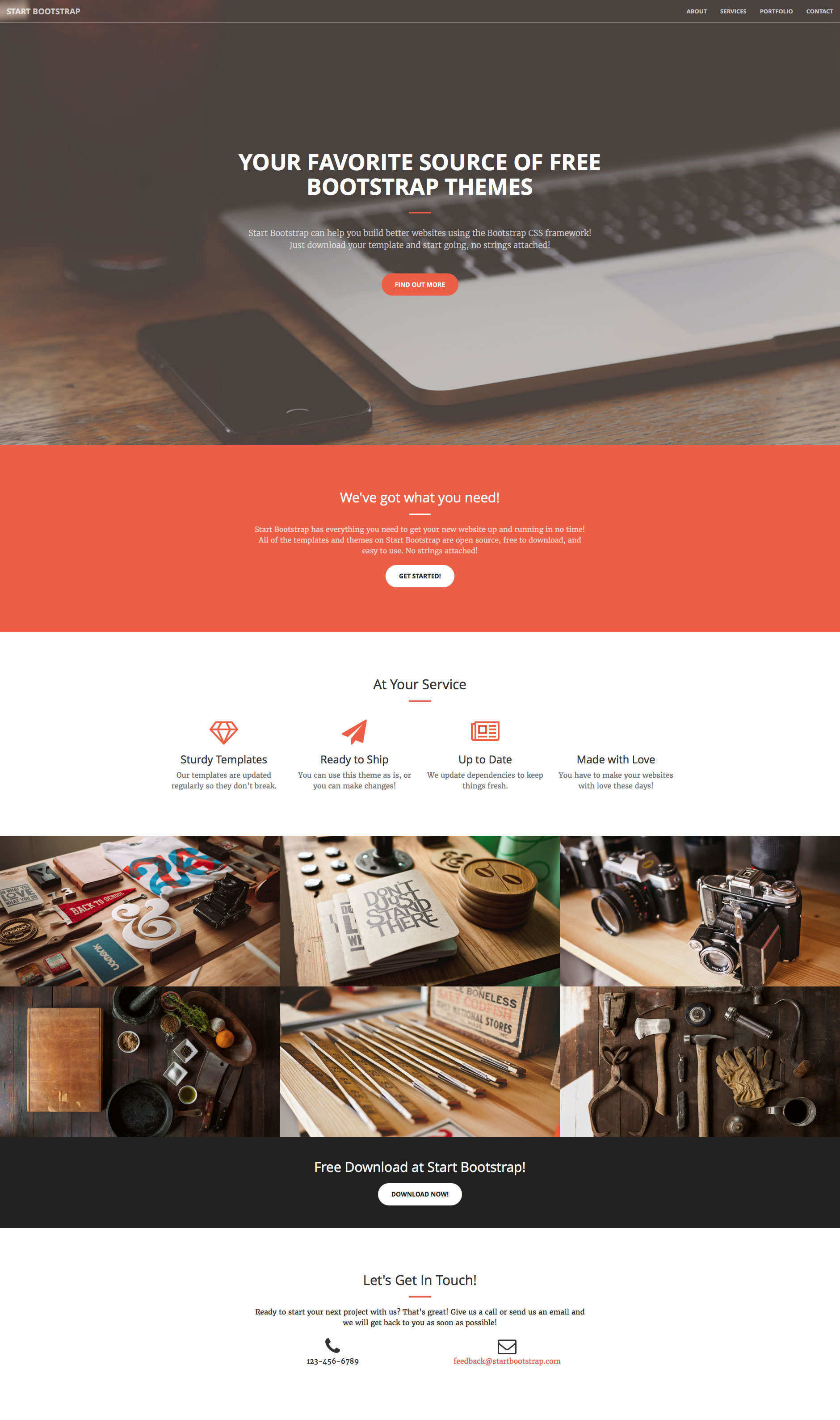Creative is a free responsive HTML5 website template using Bootstrap 3. Perfect for any kind of business websites. The features of this template are sticky header, animation scrolling, Font Awesome icons and many others.