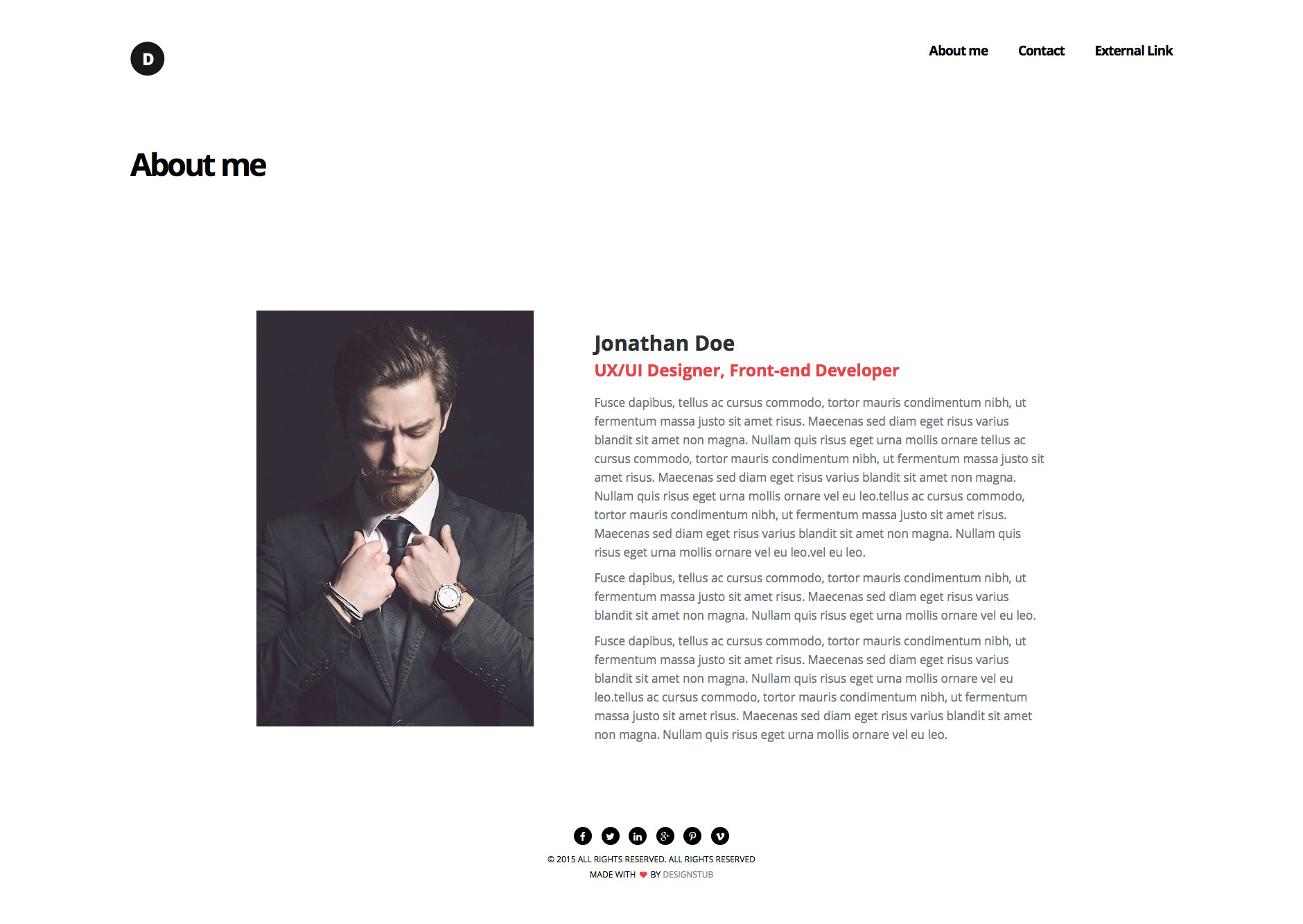 Dsign is a modern, elegant and minimalist HTML5 template for designers. The perfect web template for portfolio websites. This HTML5 template is fully responsive and based on the popular Bootstrap framework.