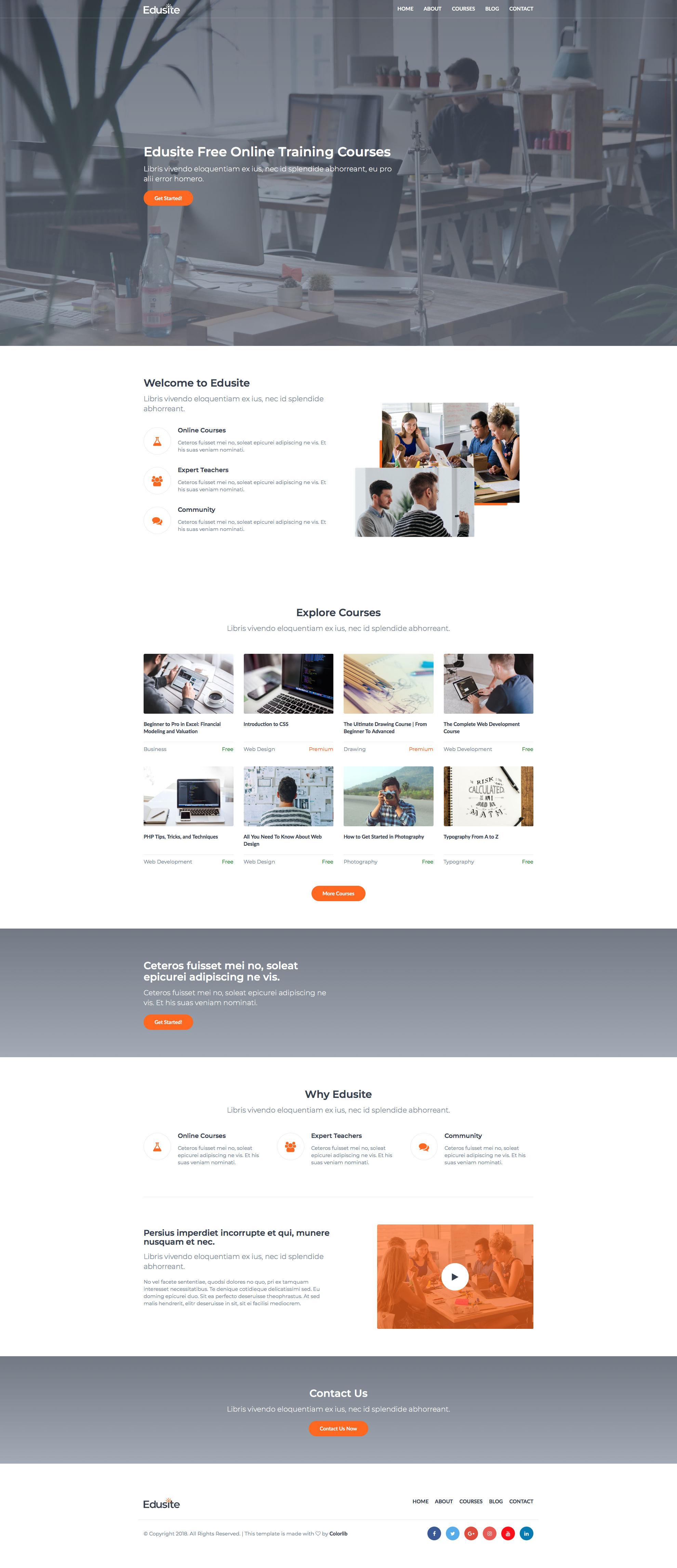 Edusite Free Responsive Html5 Bootstrap Education Template Htmltemplates Co