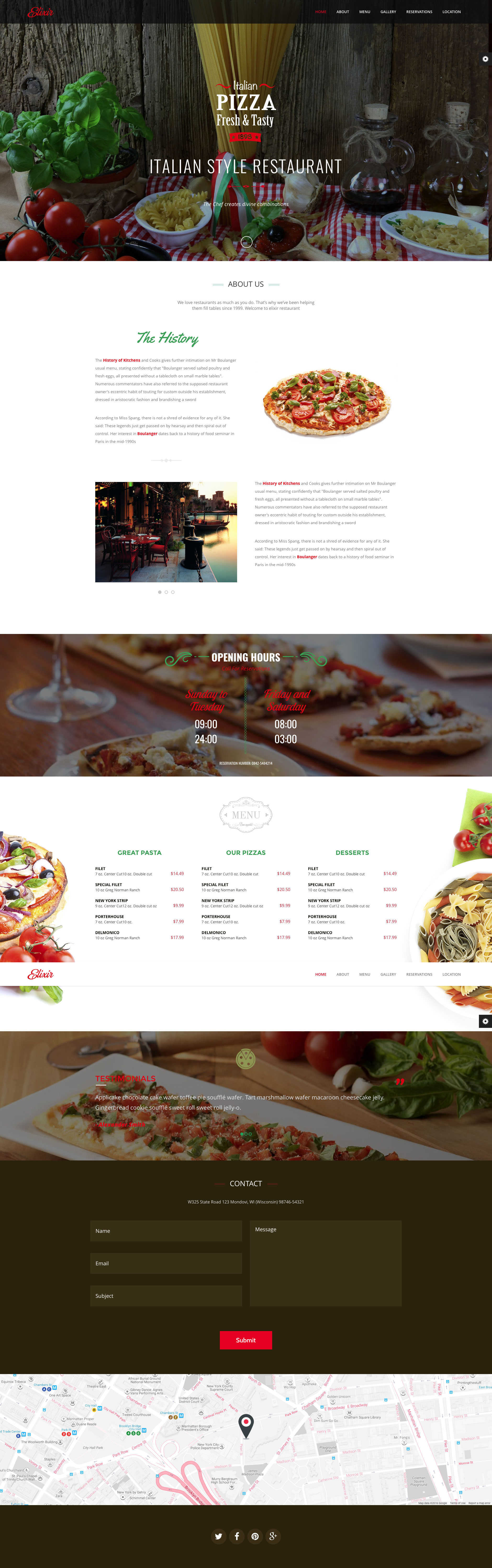 Elixir is a clean and professional responsive HTML5 restaurant website template for restaurant web sites. It comes with 4 different homepages: Luxury restaurant, American grill, Italian style and Asian food. Elixir restaurant template is fully responsive and based on the popular Bootstrap framework.