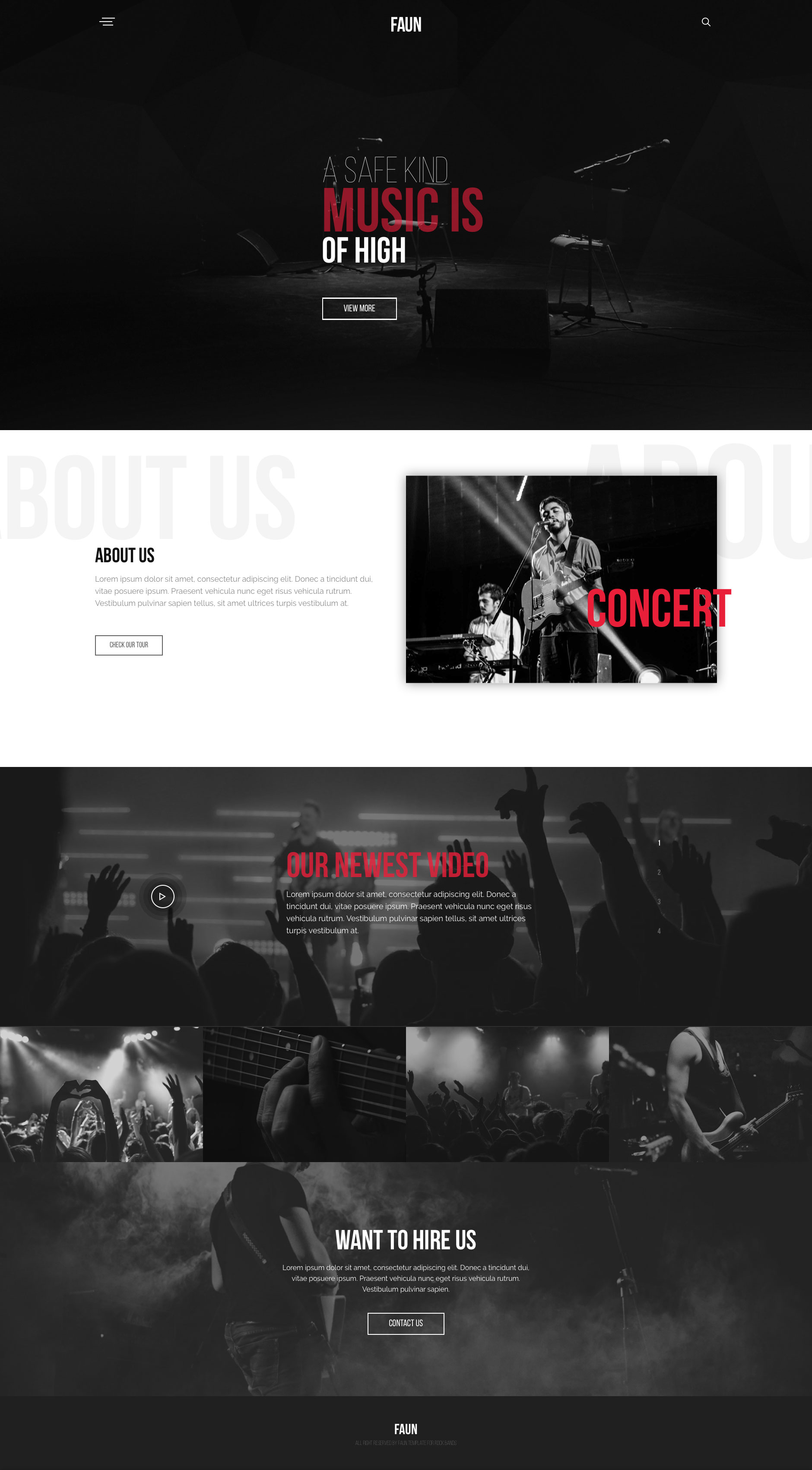 Faun is a free responsive HTML5 website template serves as the perfect online presence for entertainers of all variety. Faun is grid framework independent, and fully responsive.