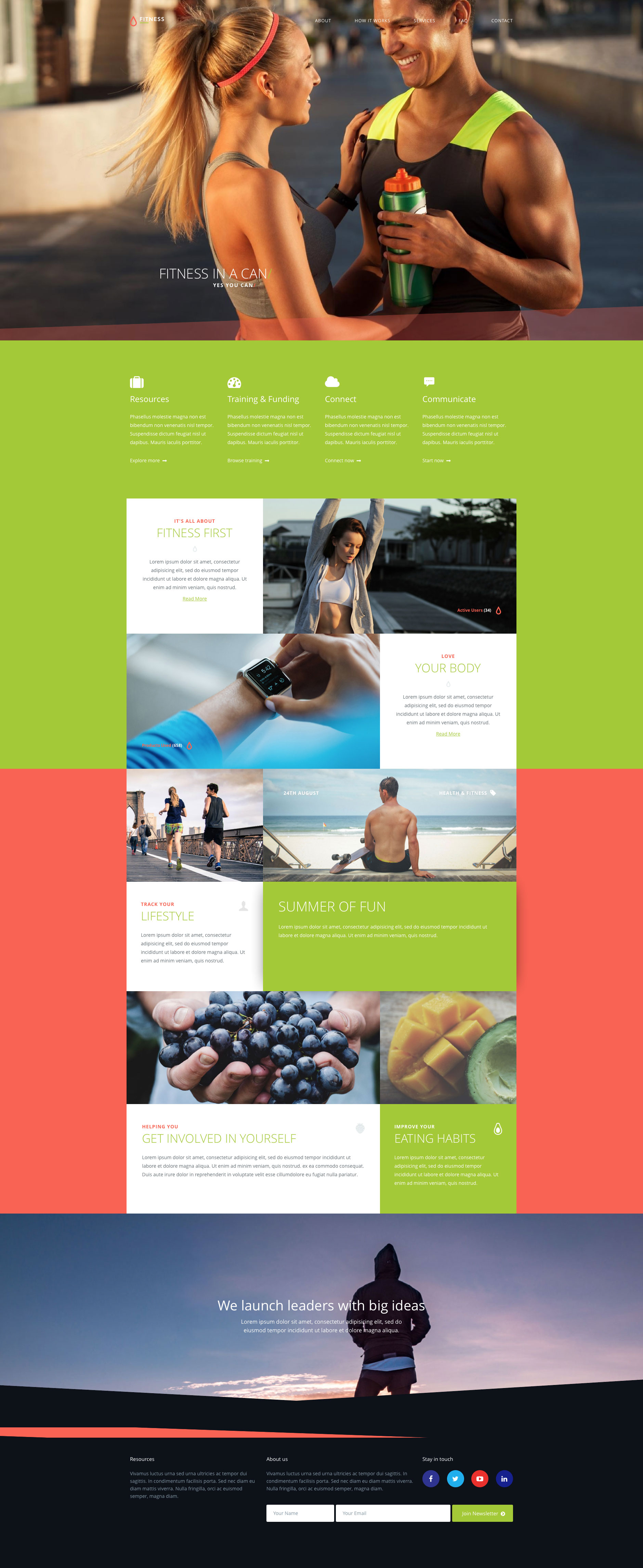 Fitness is a bright and vibrant free responsive HTML5 website template written in Bootstrap 4, and serves as a fantastic starting point to your next website project.