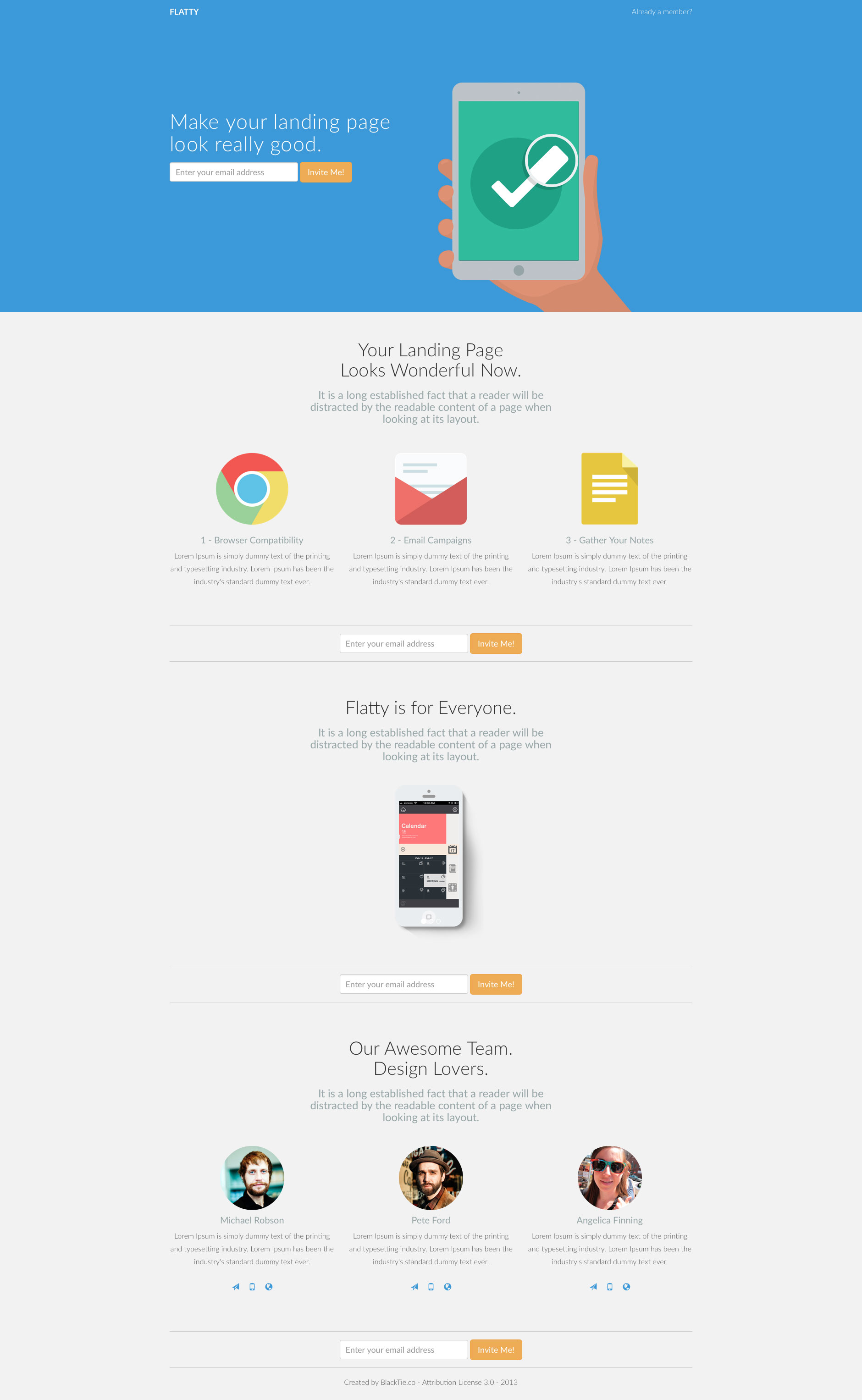 Flatty Free responsive HTML5 Bootstrap template - HTMLTEMPLATES.CO