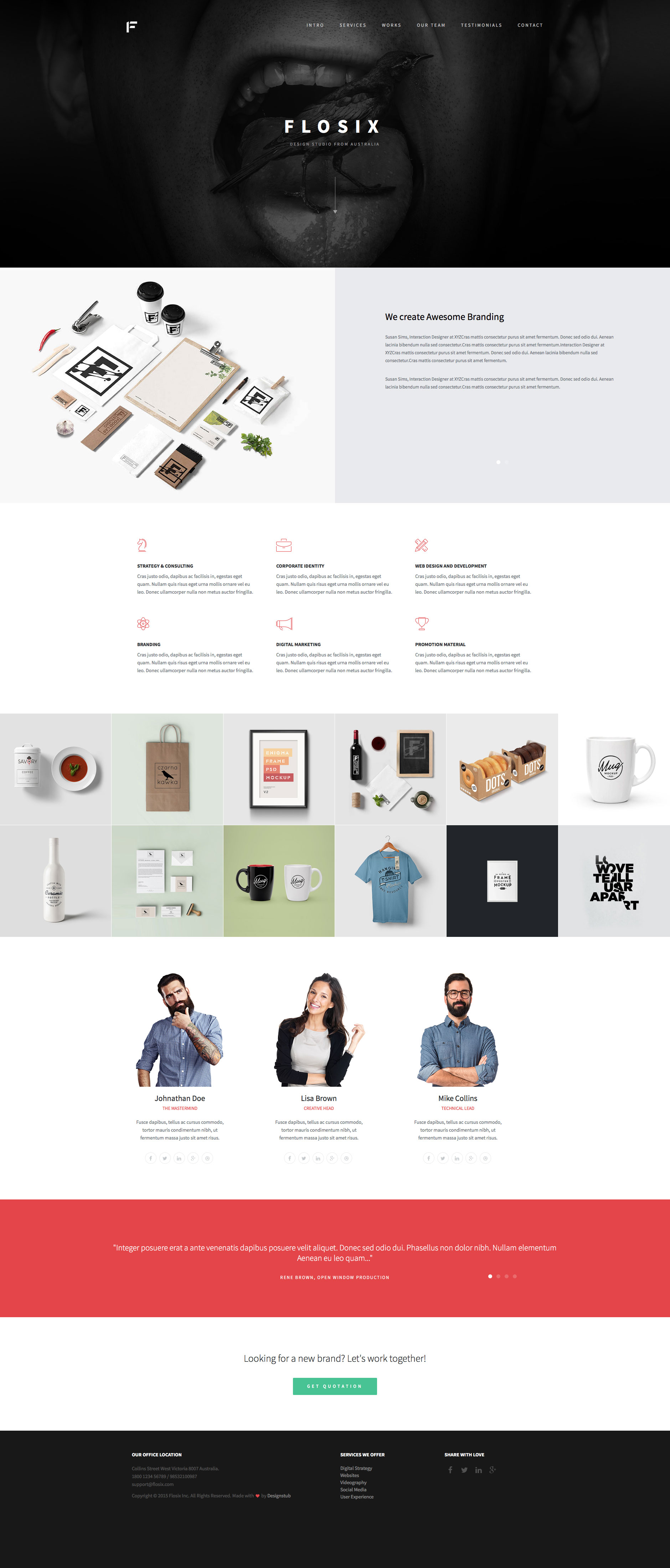 Flosix Free responsive HTML5 Bootstrap template - HTMLTEMPLATES.CO