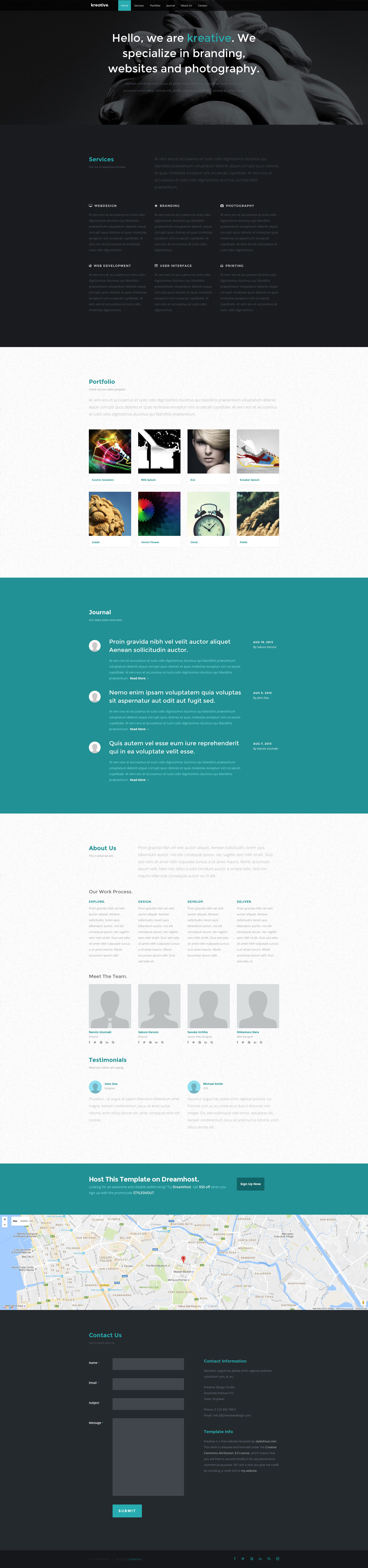 Kreative is a modern, fully responsive multipurpose HTML5  website template built with the latest HTML5 & CSS3. This template could be used for agency, portfolio, landing page, small business and freelancer sites.