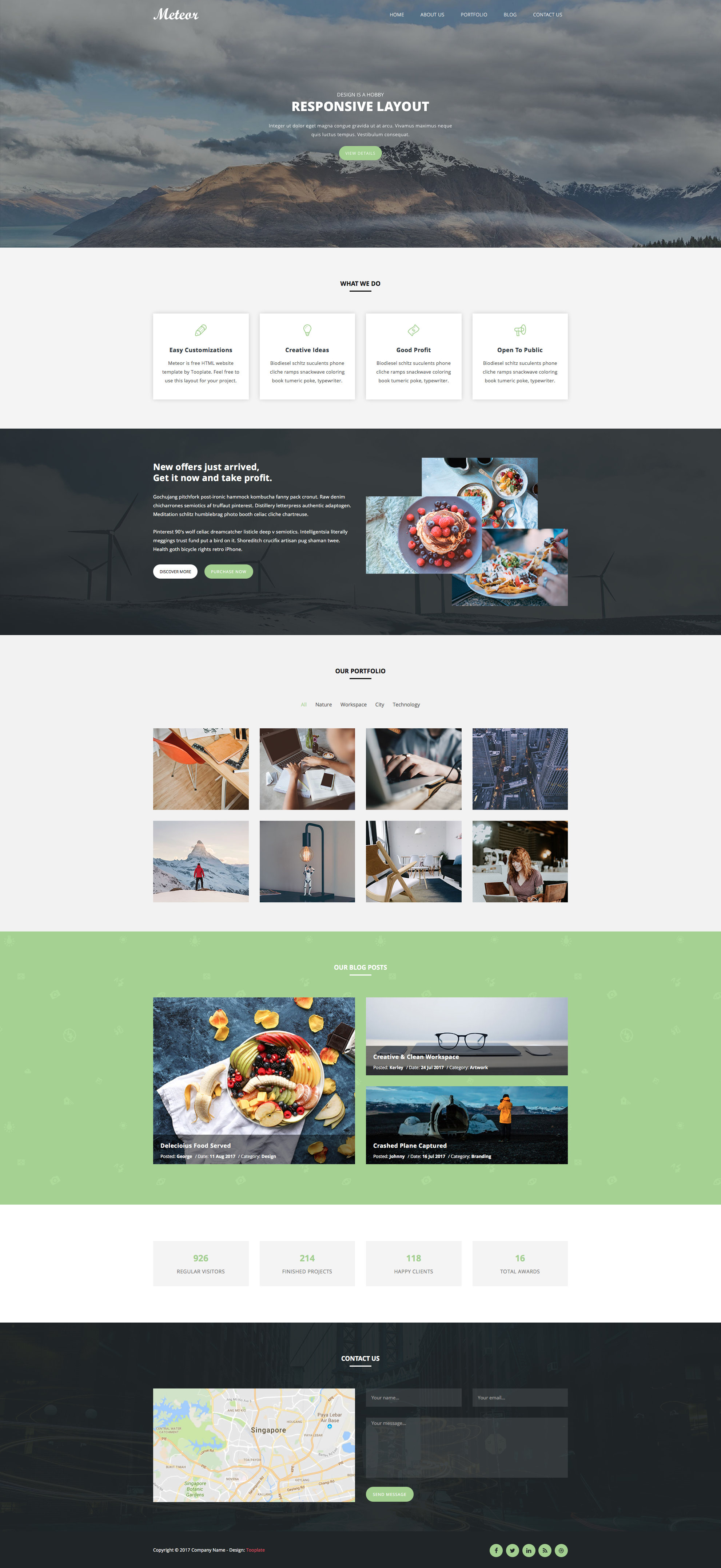 Meteor free responsive html5 bootstrap portfolio template meteor free html5 website template friedricerecipe Image collections