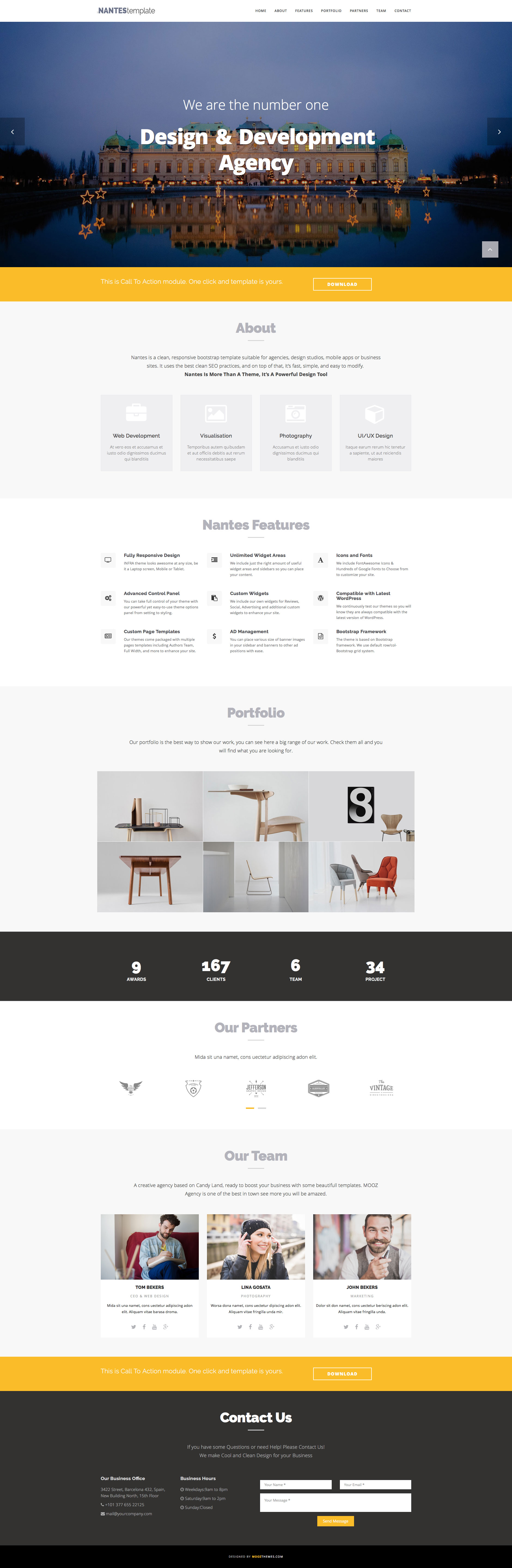 Nantes Is A Free Responsive Html5 Boote Page Website Template For Business Corporate Or