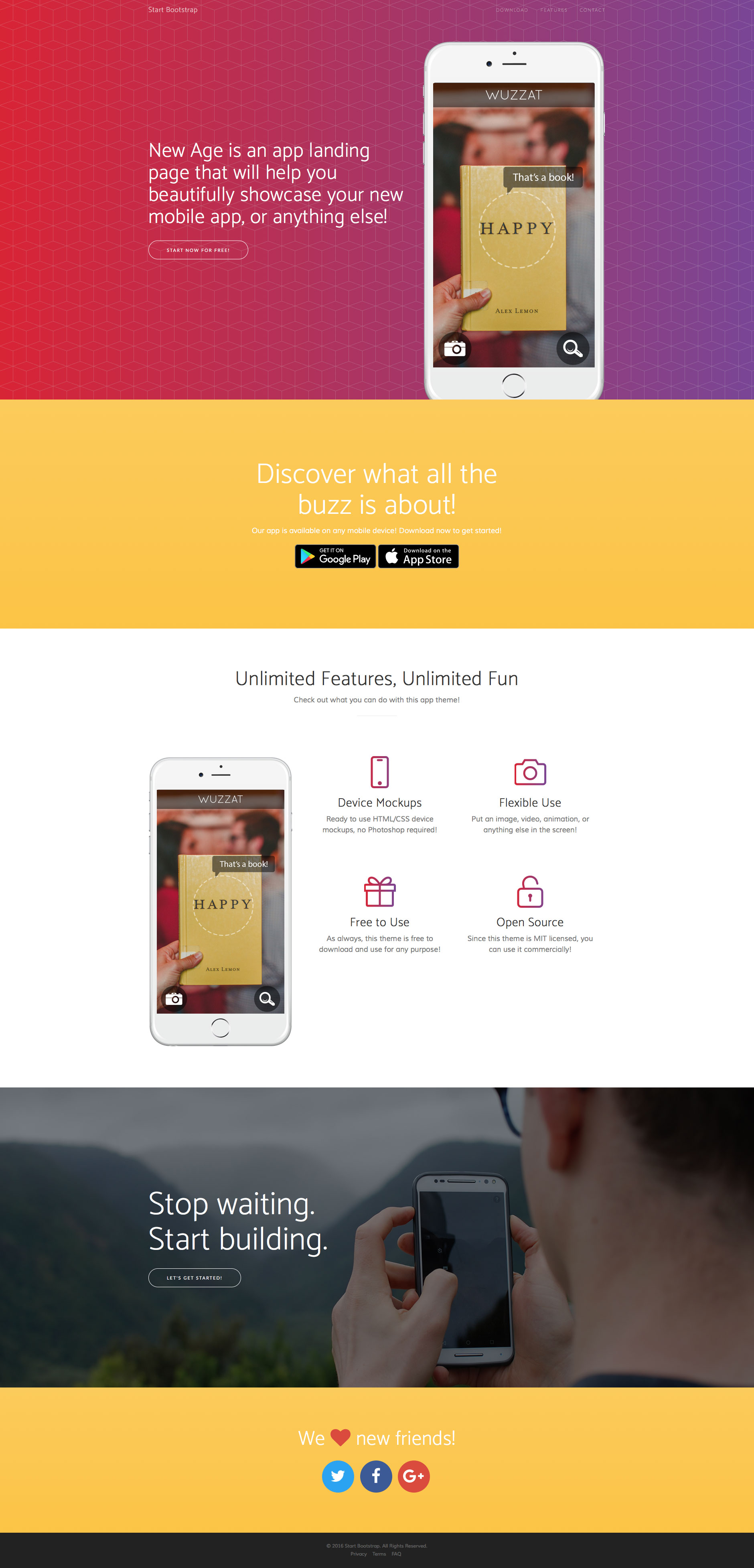 New Age Free Responsive Html5 Bootstrap Template Htmltemplates
