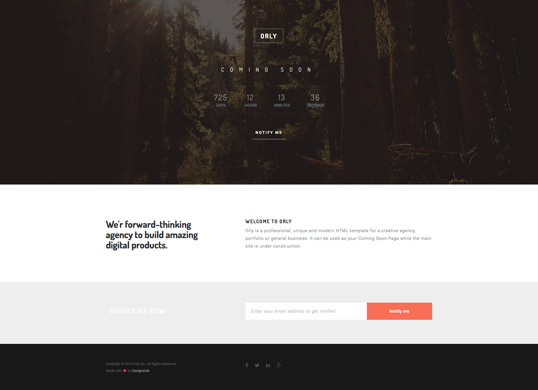 Orly free responsive html5 bootstrap coming soon template orly free html5 website template friedricerecipe Images