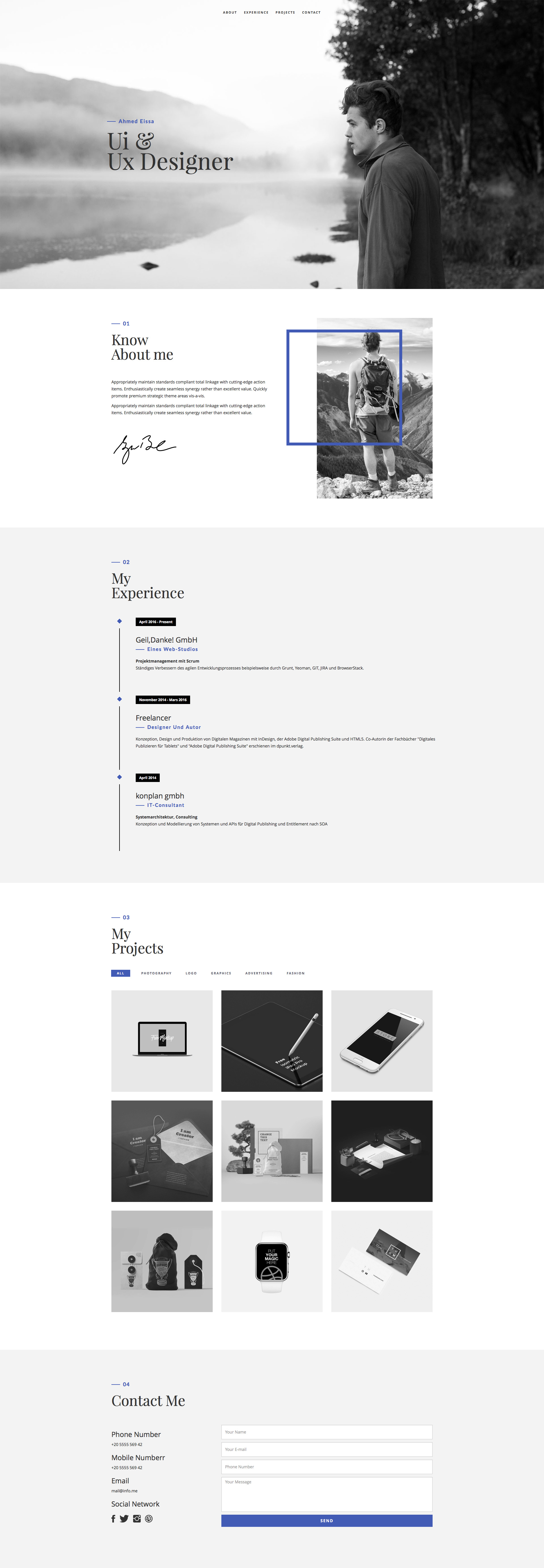 Resume is a free responsive HTML5 template using Bootstrap framework. Ideal choice for portfolio and resume websites. With Resume template you can easily showcase your work and services.