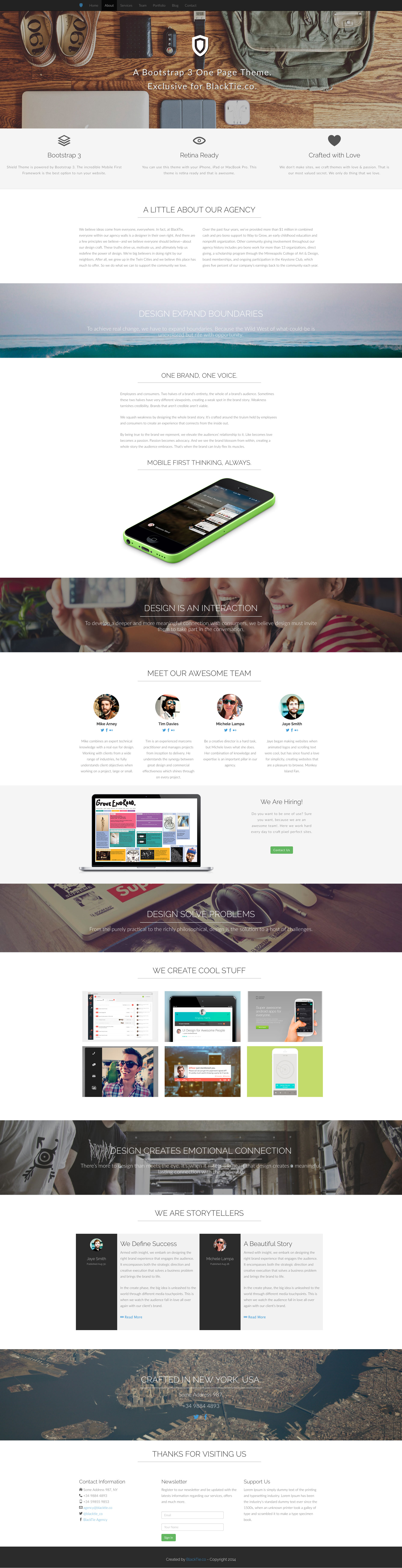 Shield is a free responsive HTML5 one-page website template based on the popular Bootstrap 3 front-end framework. Shield template is ideal choice for agencies and freelancers. It is fully responsive and comes with the latest HTML5 and CSS3 technology.