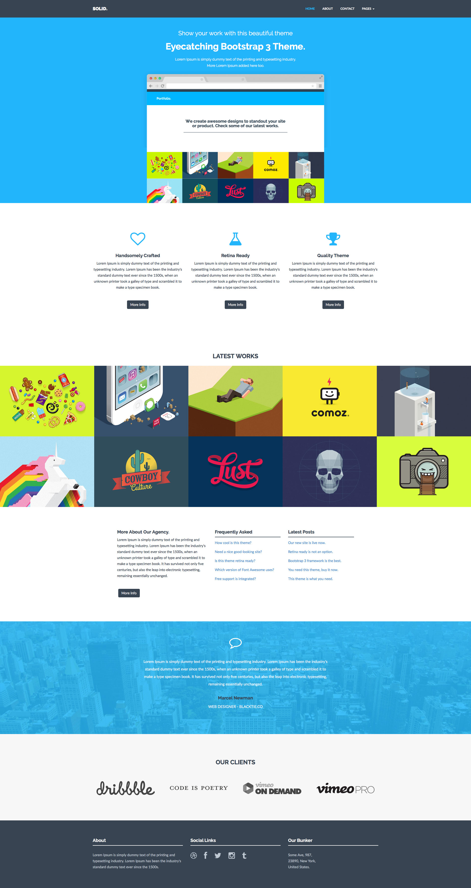 Solid Free responsive HTML5 Bootstrap template