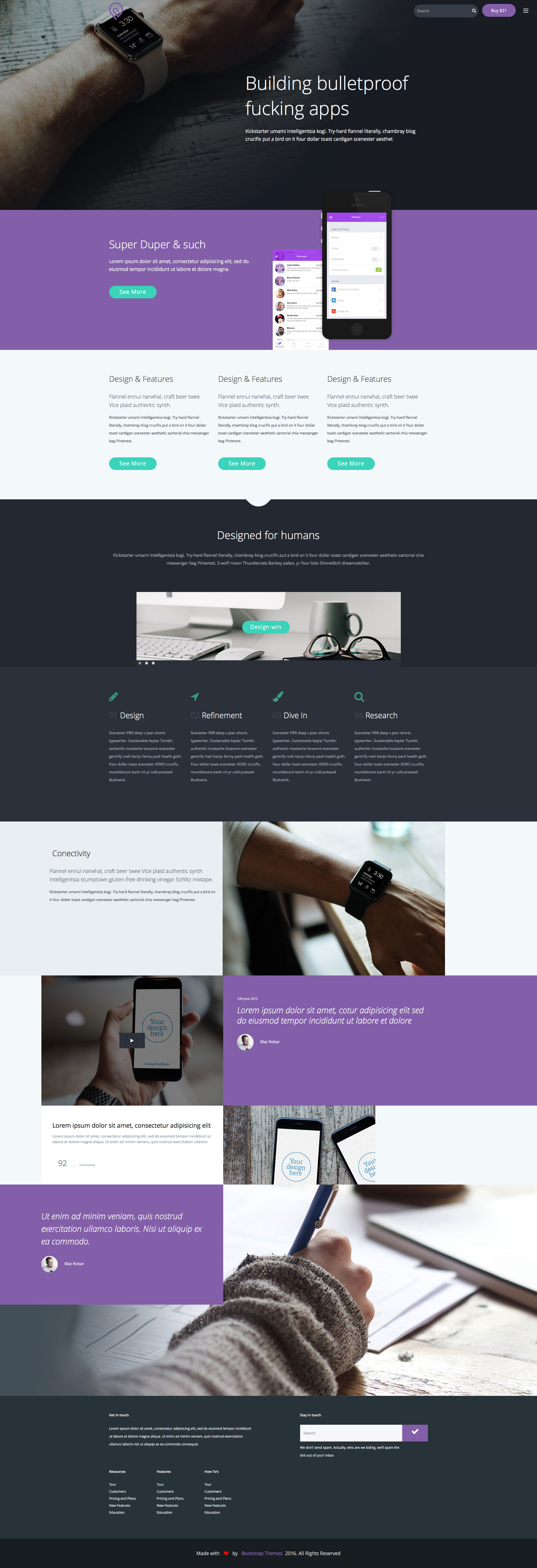 Tork is a free modern responsive HTML5 app landing page template. It is one of the best template for showcase your best application or promote your business on the web. Tork template is built on Bootstrap 3.5 and has been tested across all major browsers and devices so it works well on desktops, tablets, and mobile devices.