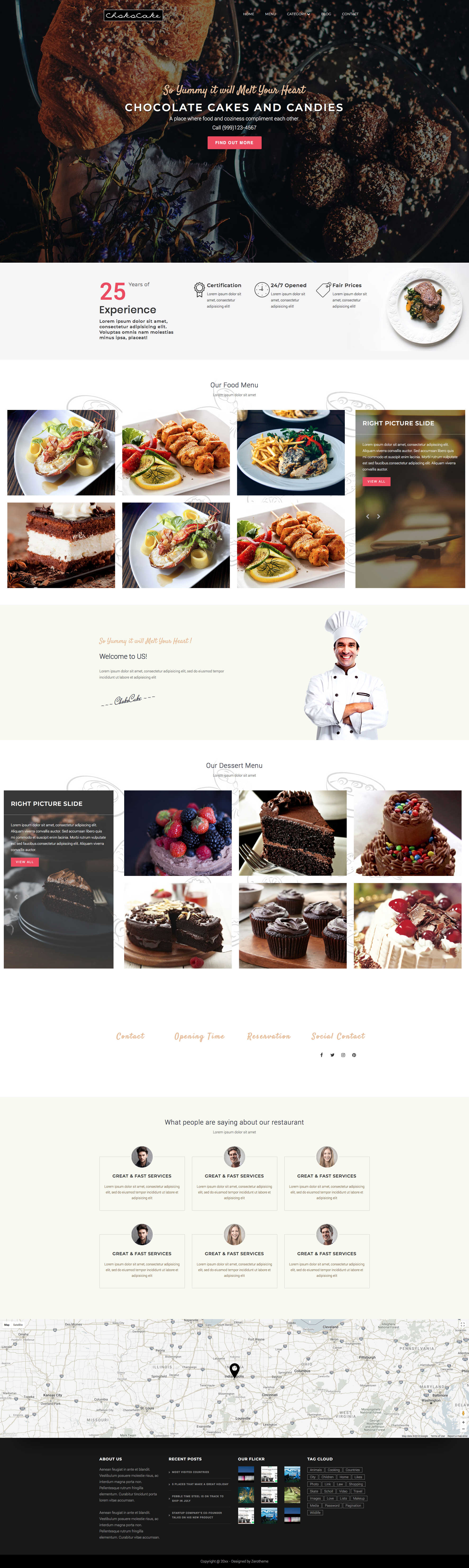 Zchococake Free Responsive Html5 Bootstrap Restaurant Template
