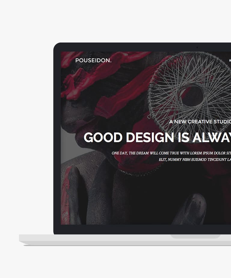 POUSEIDON Free responsive HTML5 Bootstrap Multipurpose template