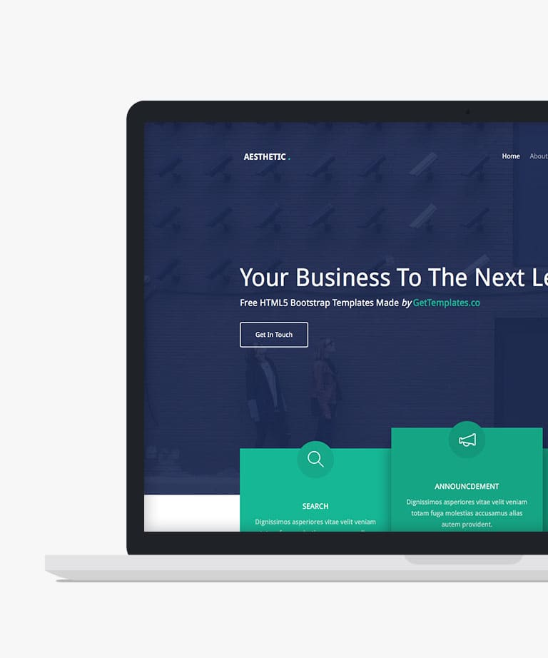 Aesthetic Free responsive HTML5 Bootstrap template