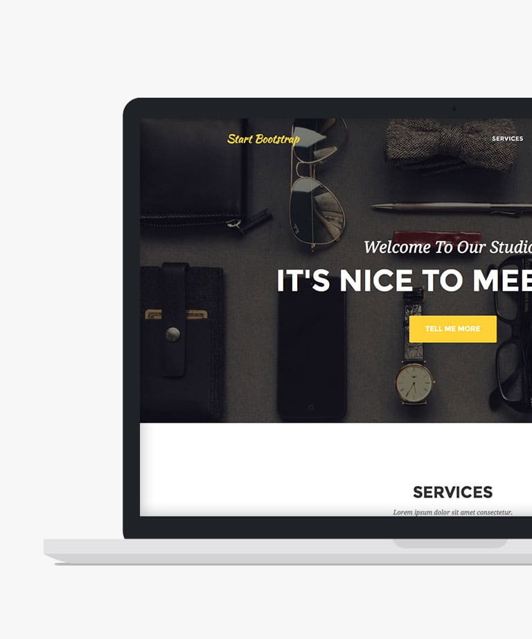 Agency Free responsive HTML5 Bootstrap template