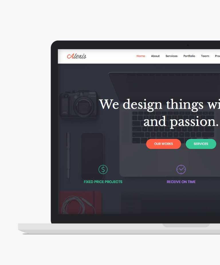 Alexis Free responsive HTML5 Bootstrap Portfolio template