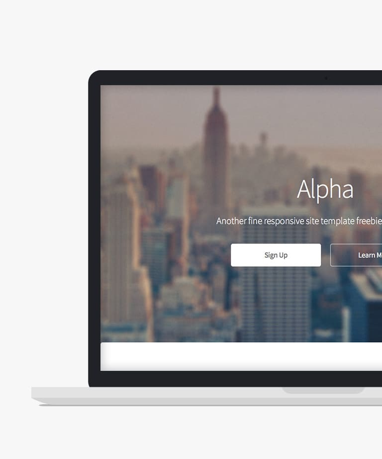 Alpha Free responsive HTML5 Multipurpose template