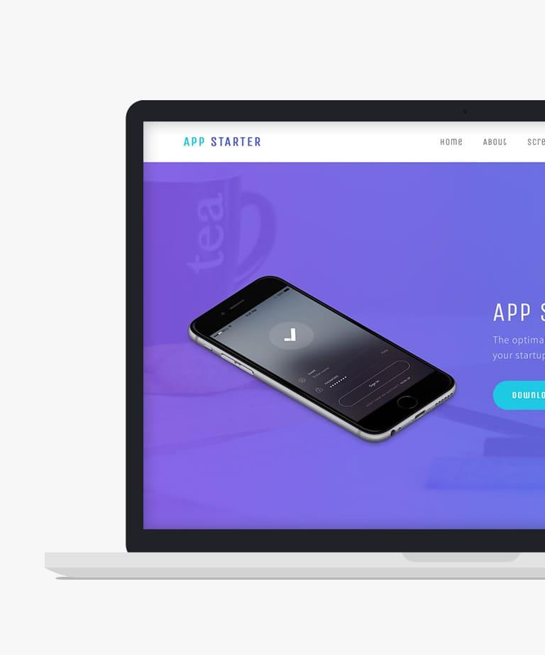 App Starter Free responsive HTML5 Bootstrap App template