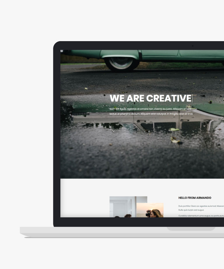 Armando Free responsive HTML5 Bootstrap Landing page template