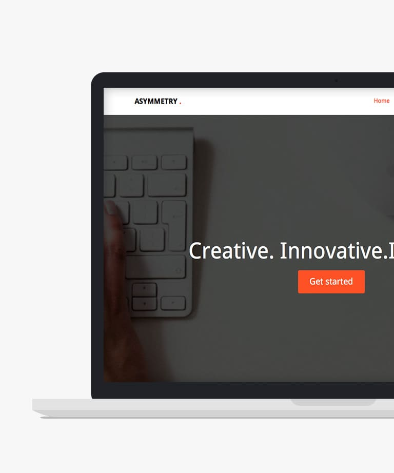 Asymmetry Free responsive HTML5 Bootstrap One page template