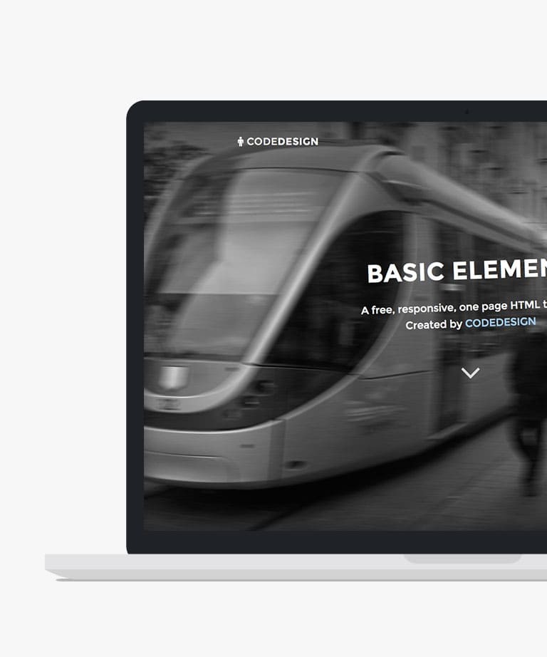 Basic Element Free responsive HTML5 Bootstrap template