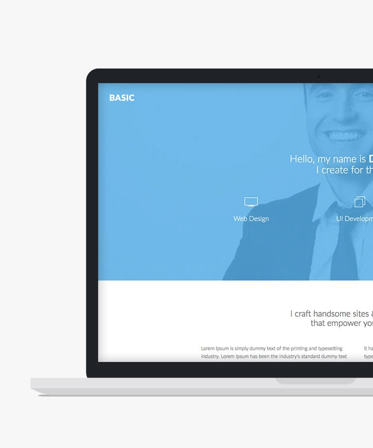 Basic Free responsive HTML5 Bootstrap template