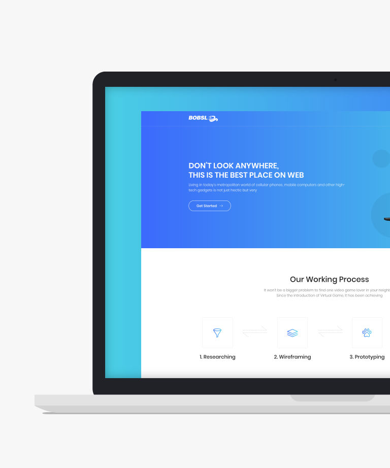 Bobsled Free responsive HTML5 Bootstrap Landing page template