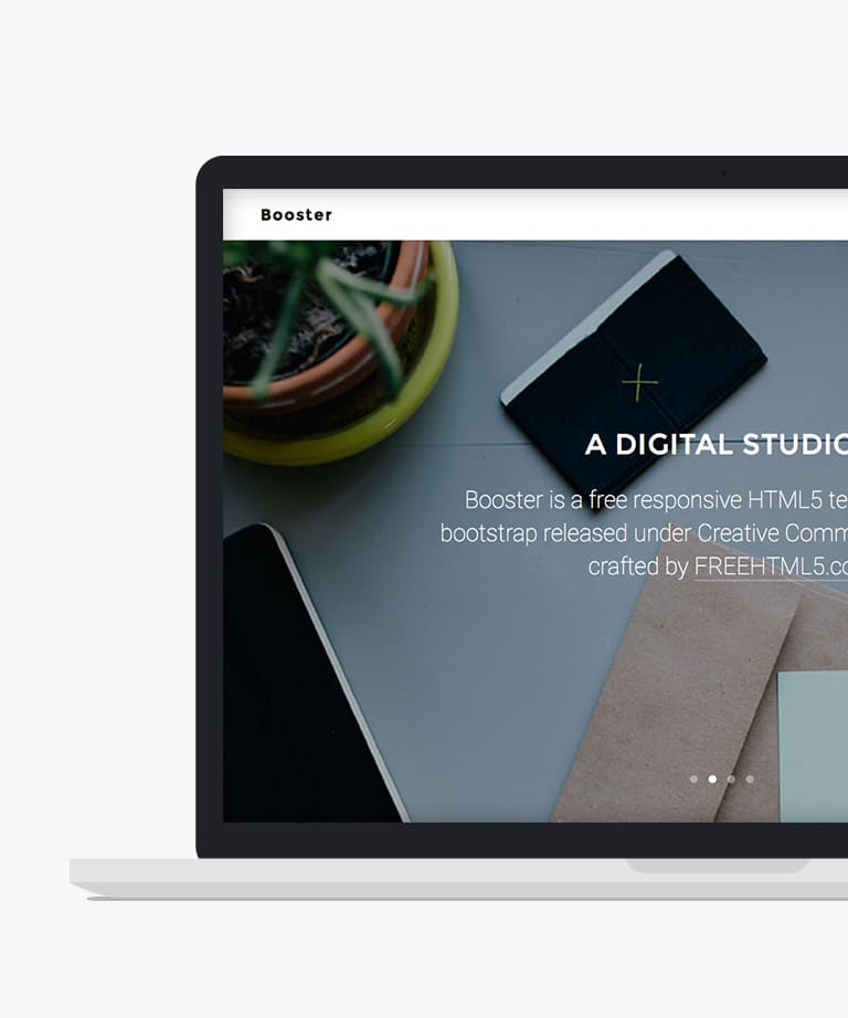 Booster Free responsive HTML5 Bootstrap Business template