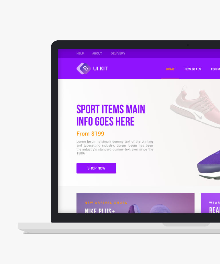 Bootstrap ecommerce Free responsive HTML5 Bootstrap Ecommerce UI Kit