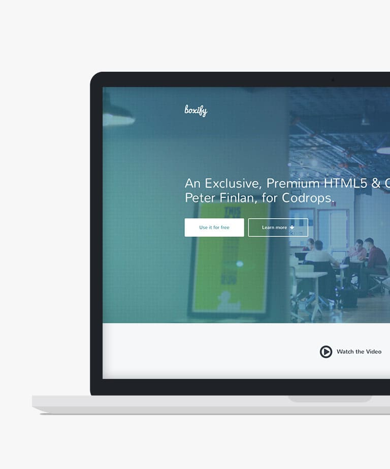 Boxify Free responsive HTML5 Bootstrap template