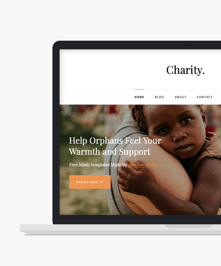 Charity Free responsive HTML5 Bootstrap Charity template