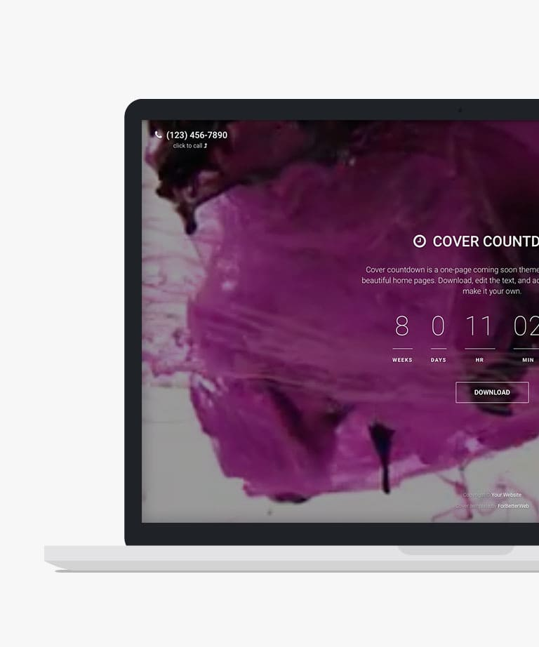 Cover Countdown Free responsive HTML5 Bootstrap template