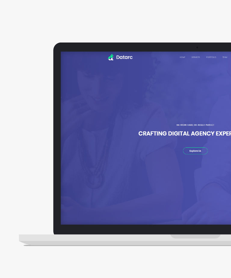 Datarc Free responsive HTML5 Bootstrap Portfolio template