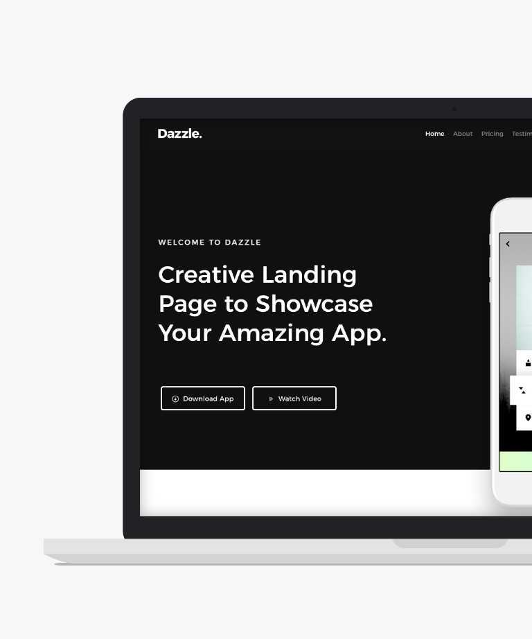Dazzle Free responsive HTML5 App template