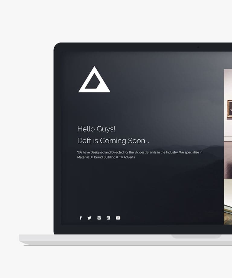 Deft Responsive HTML5 Bootstrap Coming Soon template
