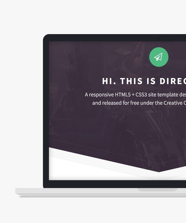 Directive Free responsive HTML5 Landing page template