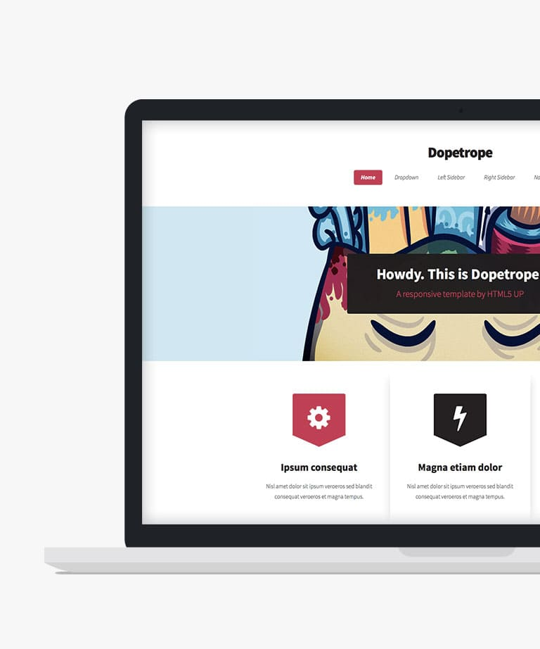 Dopetrope Free responsive HTML5 template