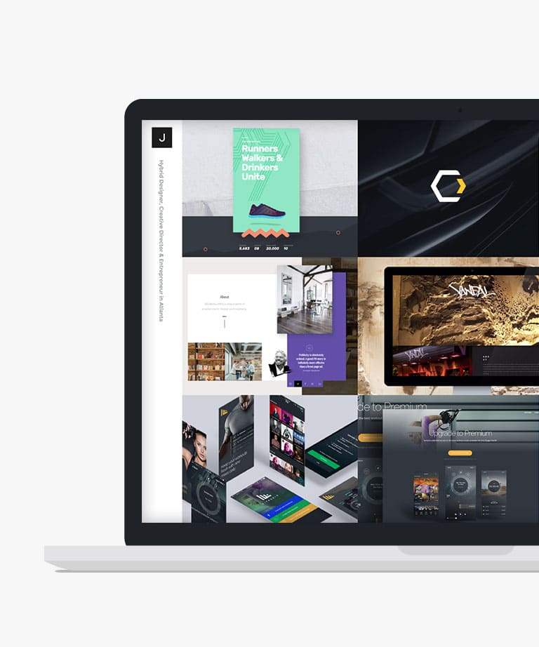 Dribbble Feed Portfolio Free responsive HTML5 Bootstrap template