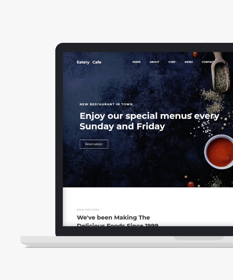 Eatery Free responsive HTML5 Bootstrap Restaurant template