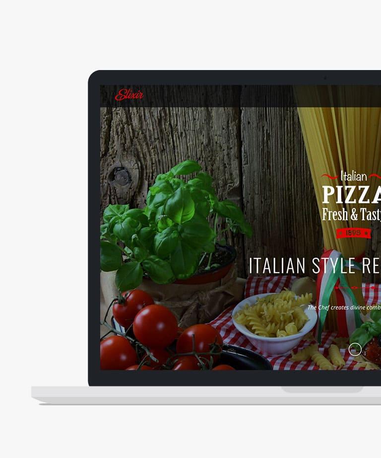 Elixir Responsive HTML5 Bootstrap Restaurant template