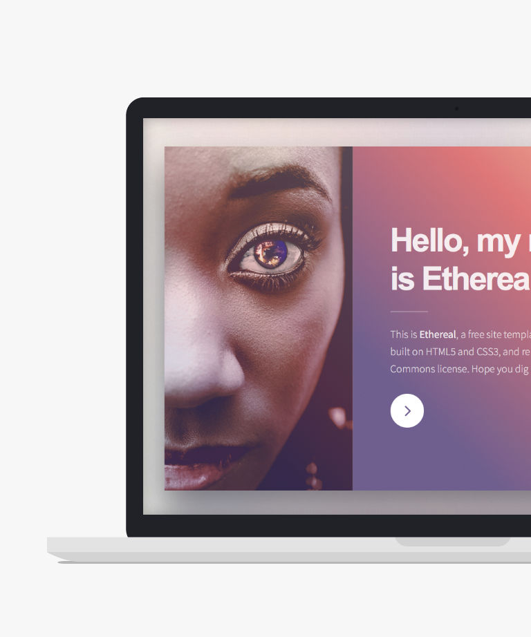 Ethereal Free responsive HTML5 Personal template