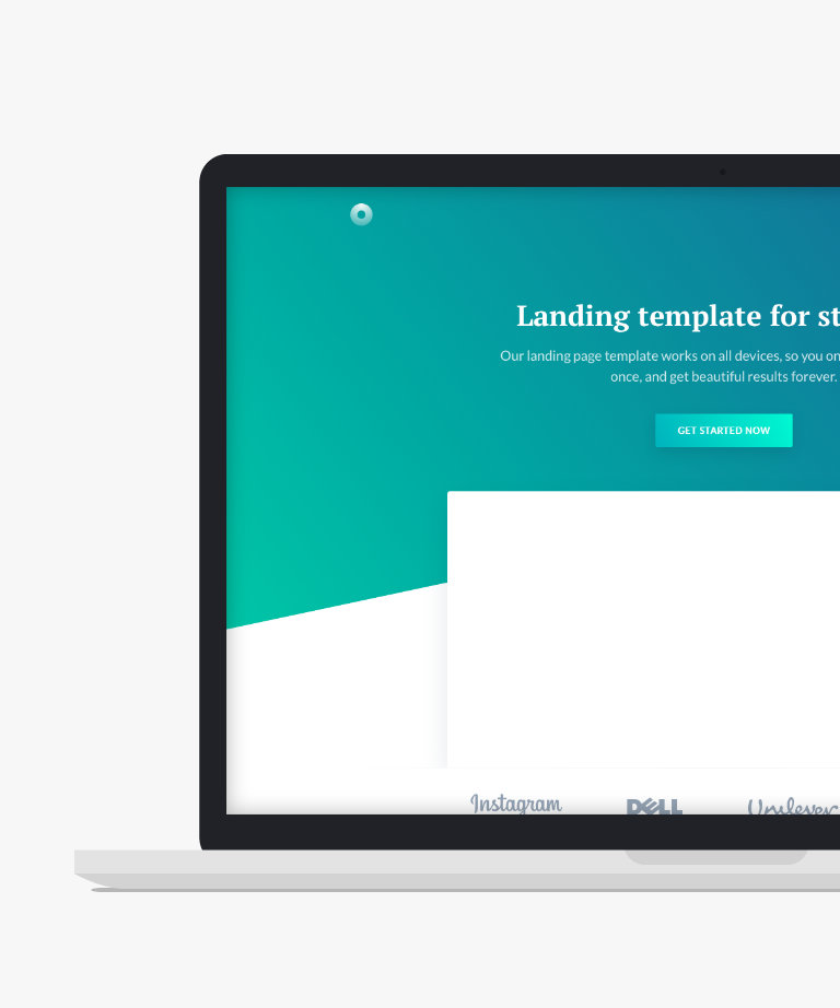 Evelyn Free responsive HTML5 Landing page template