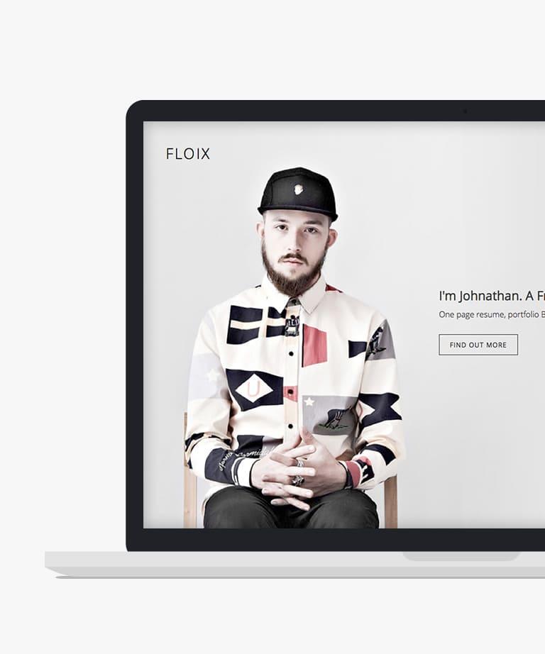 Floix Free responsive HTML5 Bootstrap Portfolio template