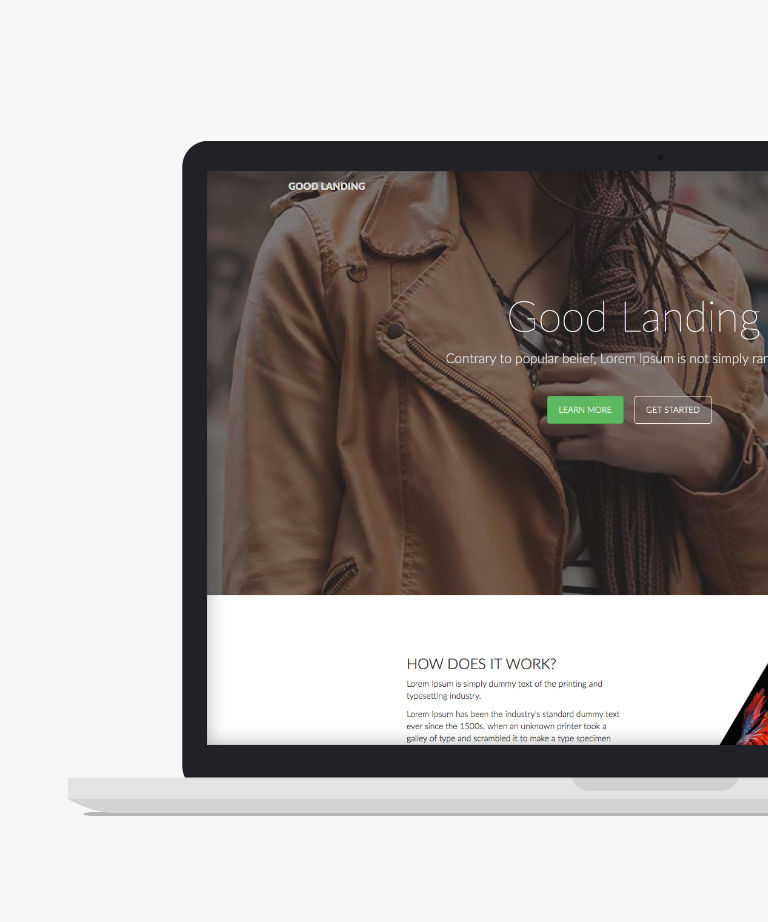 GoodLanding Free responsive HTML5 Bootstrap Landing page template